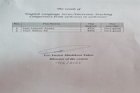 results of Electronic English Language competence Course